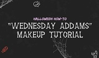 Halloween How-To: Wednesday Addams Makeup Tutorial