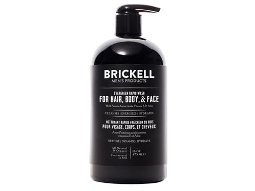 Brickell Rapid Wash for Hair, Body, & Face - Evergreen