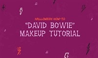 Halloween How-To: David Bowie Makeup Tutorial