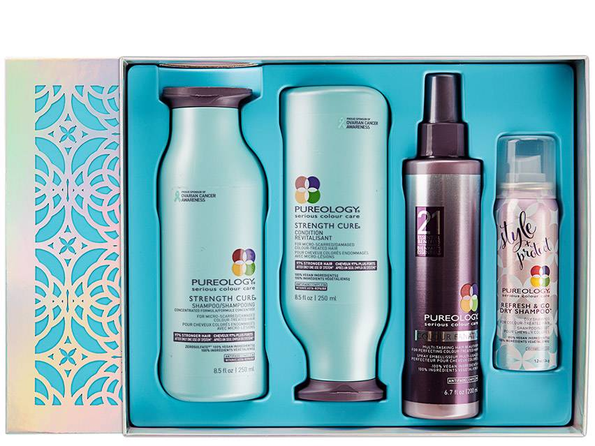 Pureology Strength Cure Holiday Gift Set 2019. Hair Care. Shampoo. Conditioner. Hair Care Set.
