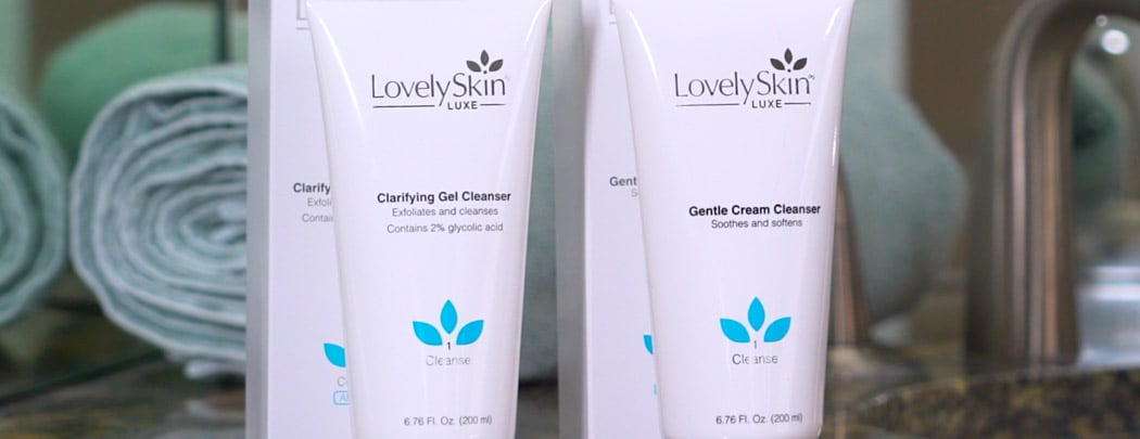 LovelySkin LUXE Clarifying Gel and Cream Cleanser