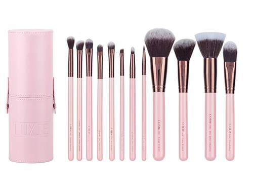 Luxie Rose Gold Brush Set, cruelty-free brushes