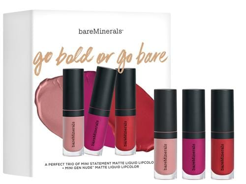 bareMinerals Go Bold or Go Bare Mini Matte Liquid Lip Trio
