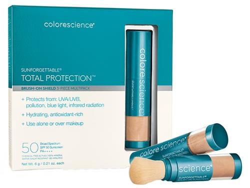 Colorescience Sunforgettable Total Protection Brush-On Shield SPF 50 Multipack - Tan
