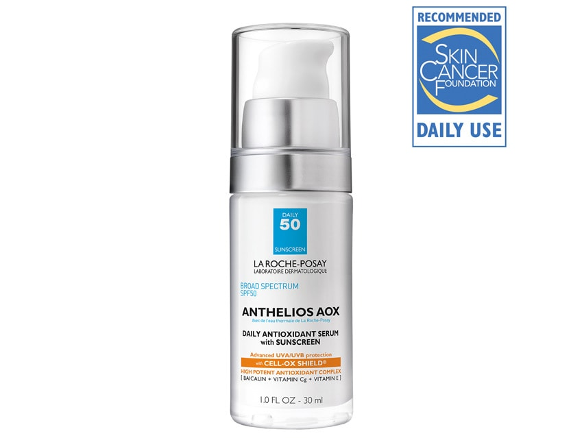 La Roche-Posay Anthelios AOX Daily Antioxidant Serum with Sunscreen SPF 50 Facial Sunscreen. Antioxidant Sunscreen