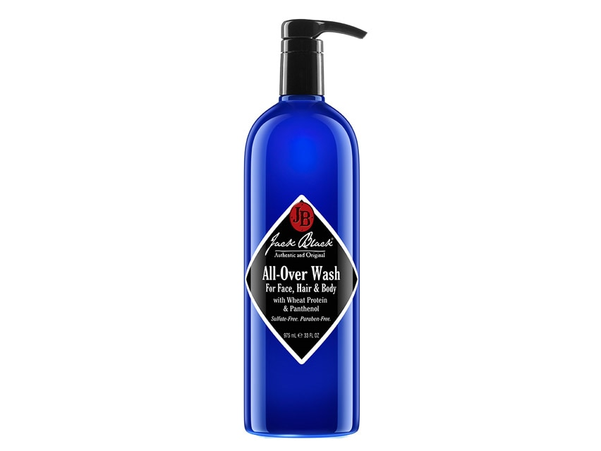 Jack Black All-Over Wash for Face, Hair and Body. Men's Cleanser. Men's skin care.