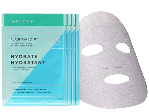 Free $30 patchology Hydrate FlashMasque Facial Sheets - 4 Pack