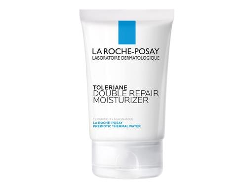 La Roche-Posay Toleriane Double Repair Face Moisturizer, a white tube with blue labeling