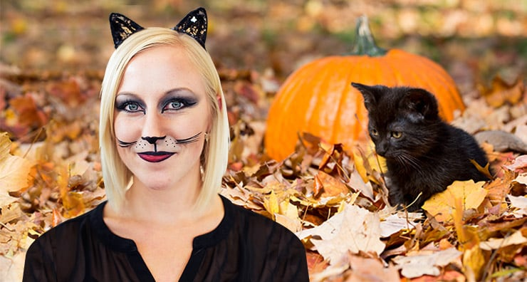 Easy Halloween Makeup: Cat