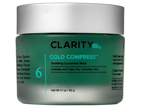 ClarityRx Cold Compress Soothing Cucumber Mask