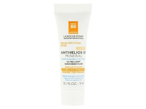 Free La Roche-Posay Anthelios 50 Body Mineral Tinted Ultra Light Sunscreen Fluid 3ml