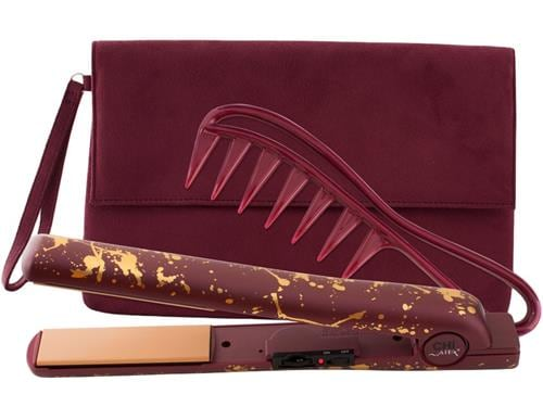 "CHI AIR EXPERT Classic Tourmaline Ceramic Hairstyling Iron 1"" - Limited Edition Never Bordeaux"