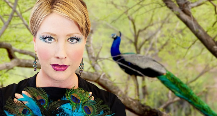 Easy Halloween Makeup: Peacock