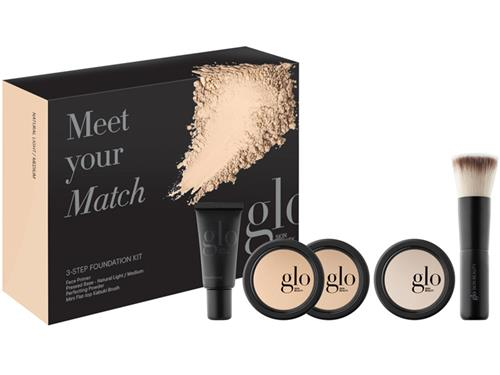 Glo Skin Beauty Meet Your Match 3-Step Foundation Kit - Natural Light/Medium