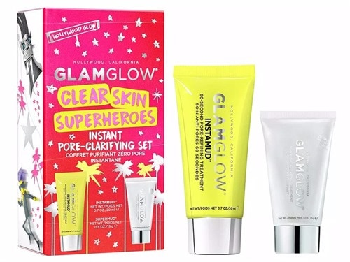 GLAMGLOW Clear Skin Superheroes Instant Pore-Clarifying Set. Skin Care. Holiday Gift Set.