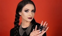 Halloween Makeup Tutorial: Wednesday Addams