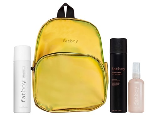 Fatboy Texture and Shine Mini Backpack Holiday Kit