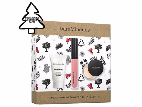 bareMinerals Primer, Finishing Powder & Lip Lacquer Trio - Limited Edition