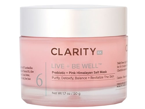 ClarityRx Live + Be Well Probiotic + Pink Himalayan Salt Mask